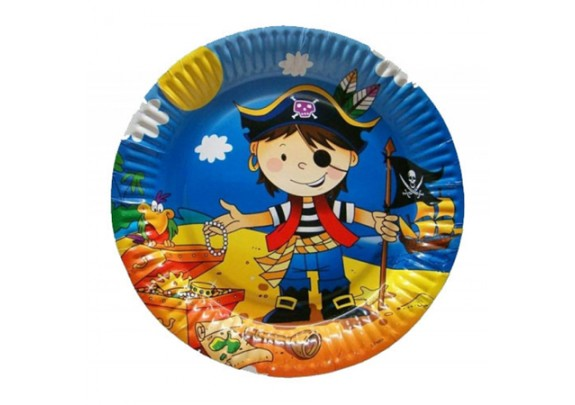 Коллекция Весёлый пират Тарелки бумаж/23см/6шт