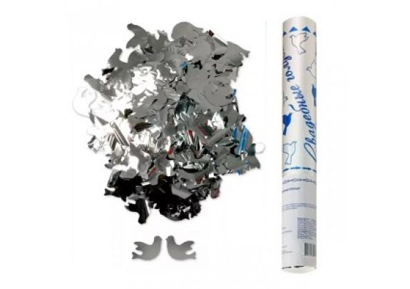 Хлопушка Пневмо в метал/тубе 30см 8230 фольг/Голуб