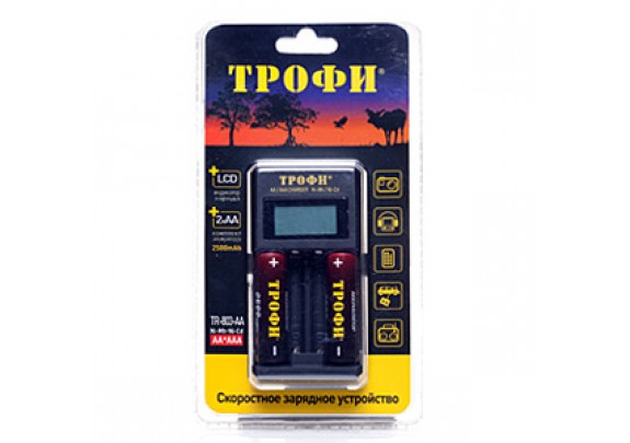 З/у TROFI TR-803 (АА/AAA/LCD/+2*2500mAh) /6/24