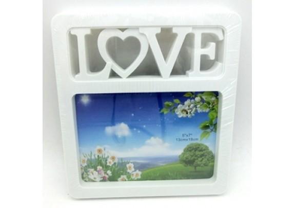 пластик YW-004 LOVE/10*15/белая