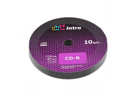 диск CD-R Intro 700 Mb/52x/Shrink/10шт