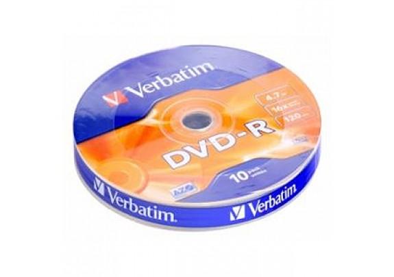 диск DVD-R Verbatim 4.7Gb. /16x/Shrink/10шт