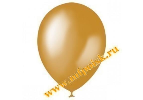 Шар 13см Металлик/GOLD/100 шт.