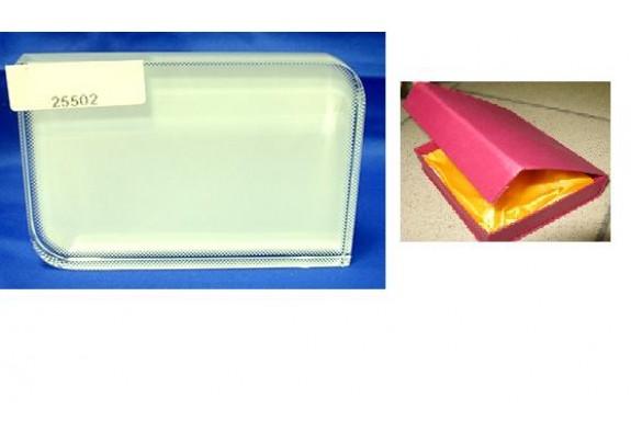 Кристалл стекло/BXP12/8*6*1,5см/закругл.углы