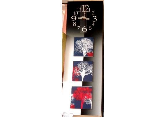 Часы FC-B016  МДФ/стекло/25*75см