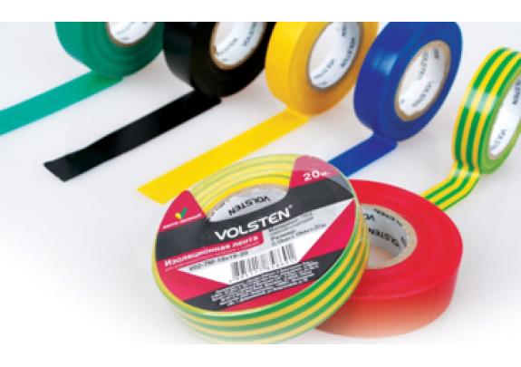 Изолента Volsten V02-7M-13x15мм*10м/ желт-зелен/10