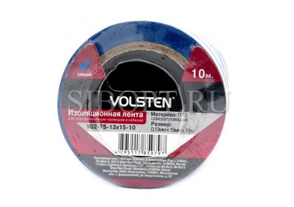 Изолента Volsten V02-7S-13x15мм*10м/ синяя/10