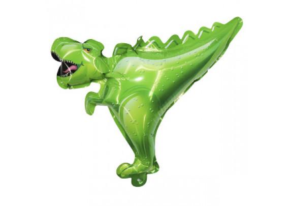 Шар-самодув Динозавр зеленый 20см