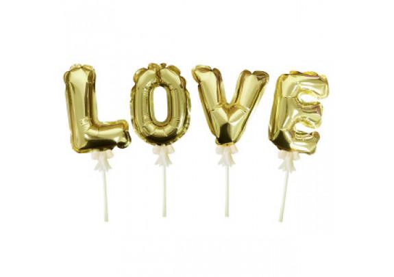 Шар-самодув LOVE Gold 16см