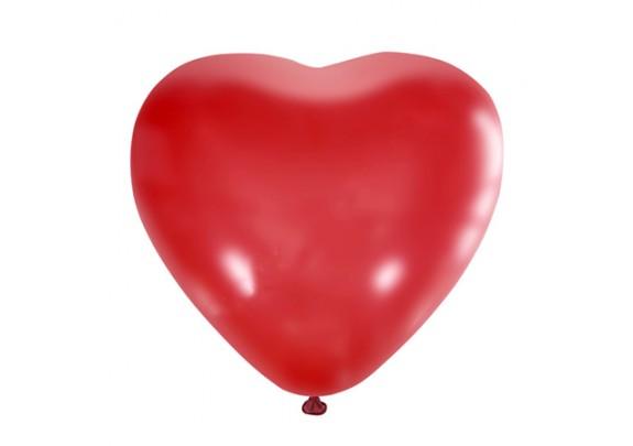 Шар 25см Сердце/Декоратор/CH RED/50шт