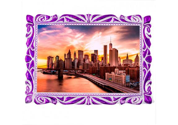 Магнит Багет 90*65 Фиолетовый металлик