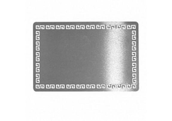 Визитка K-1 металл/серебро/54*86мм