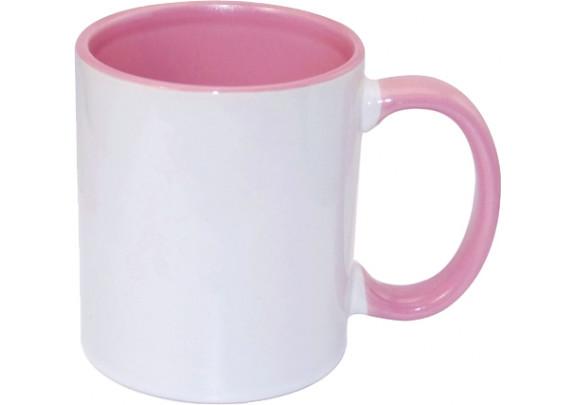 Кружка Внутри и ручка/Розовая