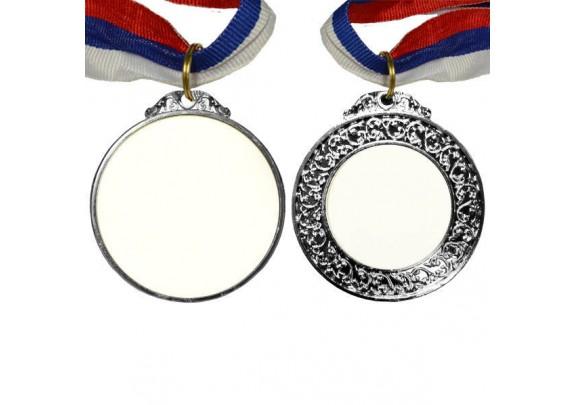 Медаль P093 СЕРЕБРО/двух сторон/65мм/вставка 42*40