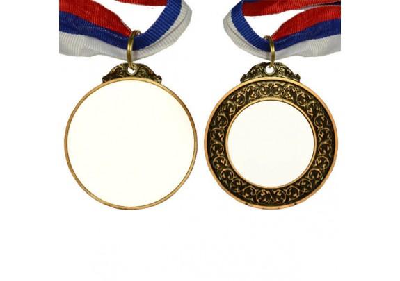 Медаль P094 БРОНЗА/двух сторон/65мм/вставка 42*40