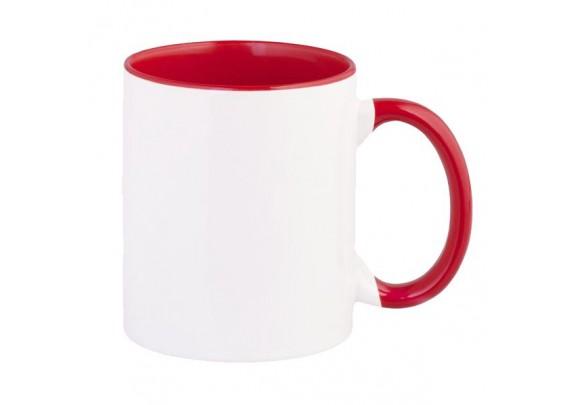 Кружка Внутри и ручка/Красная
