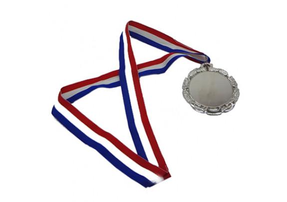 Медаль WX-6051B Серебро/пластина/лента триколор