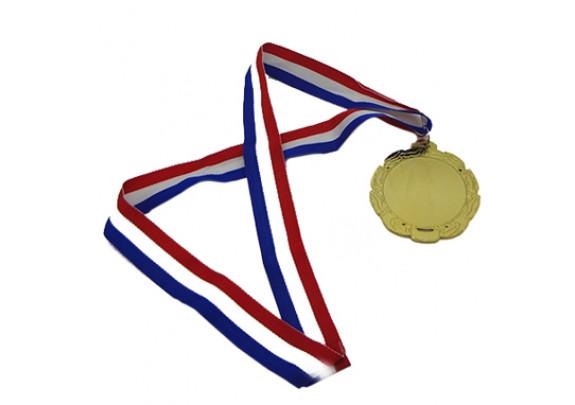 Медаль WX-6051B Золото/пластина/лента триколор