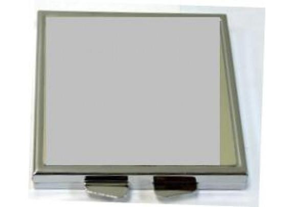 Зеркало НТ004 металл/квадрат/8см
