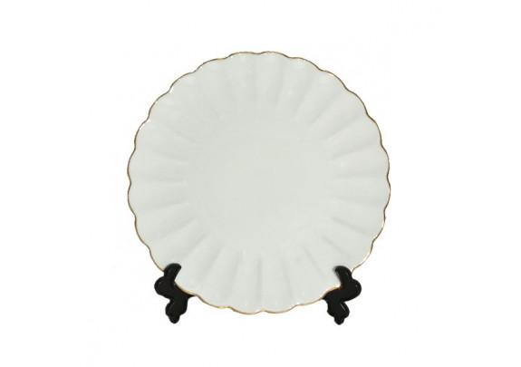 Тарелка 3D/фаянс/подставка/19см/CP-J1919