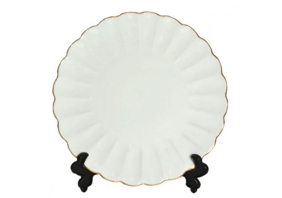 Тарелка 3D/фаянс/подставка/21см/CP-J2121