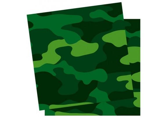 Коллекция Милитари Салфетки 33х33см/12шт