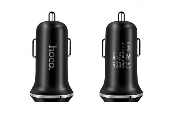 Адаптер HOCO Z1 2USB  2.1А/черн