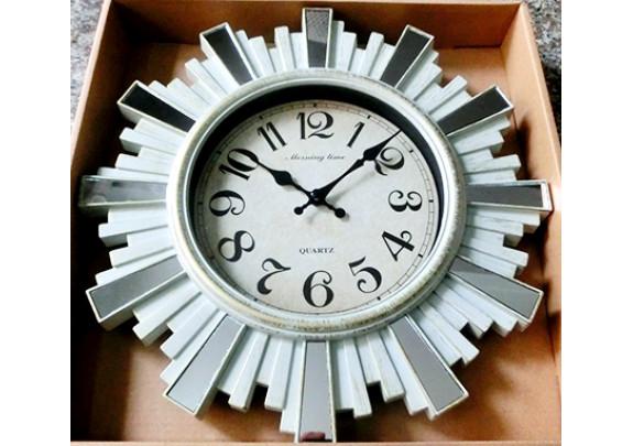 Часы 8708A пластик/31см/зеркальные