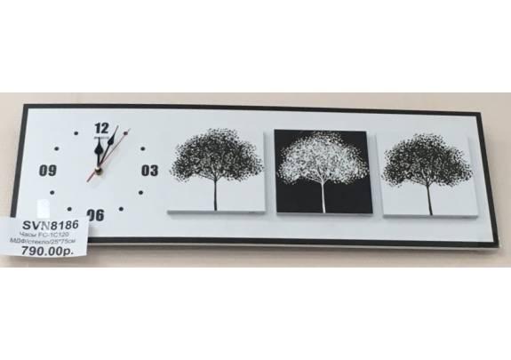 Часы FC-1C120  МДФ/стекло/25*75см