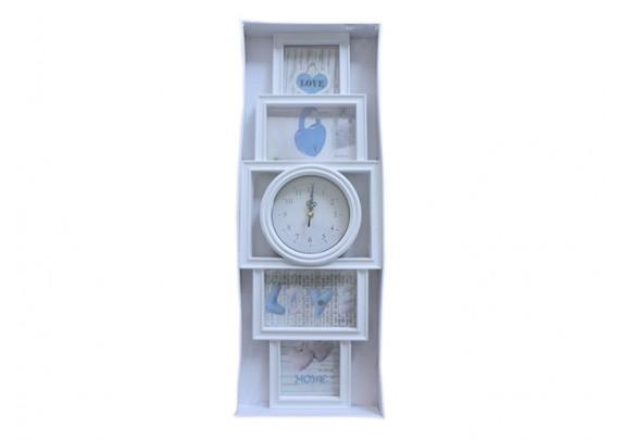 Часы 517-5D-2G 4фото/пластик/часы 15см/60см