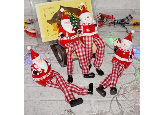Фигурка SD19-6 Дед Мороз с ножками  4вида/19*4см