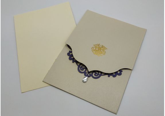 Открытка 10423-8 Приглашение/Барокко/конверт