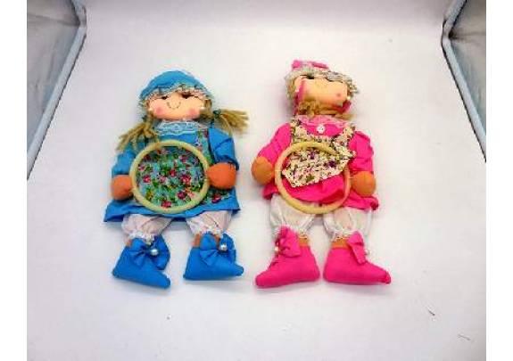 Панно настенное Кукла/кармашки/ткань