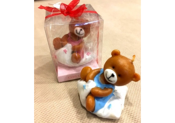 Свеча 4395 Baby Мишка/подар.упаковка/8*6*6см