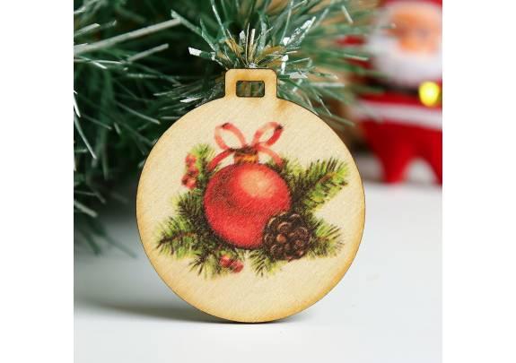Елочный шарик дерево/5см/3885149