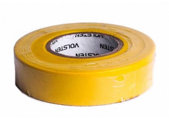 Изолента Volsten V02-7Y-13x15мм*20м/ желтая/10