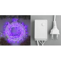 Гирлянда уличная 200LED фиолет/20м/8реж/358414