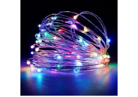 Электрогирлянда LED /3м/АА/разноцветн