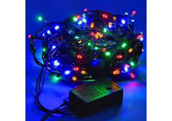 Электрогирлянда 140 ламп MHX /разноцв./ 3.5м