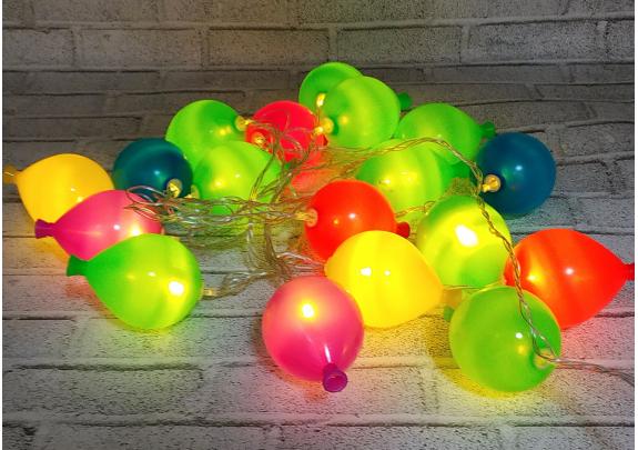Электрогирлянда G2019-15 Воздуш.шары LED/20л 5*6см