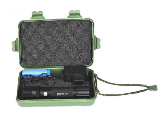 Фонарь Ultra Flash LED E145 ак.220В1W/3реж/ак18650