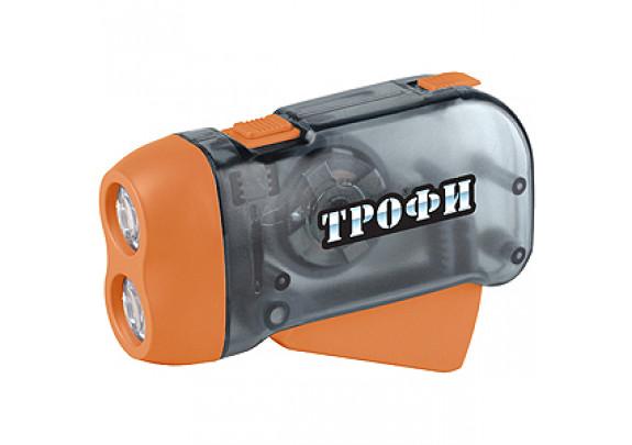 Фонарь Трофи TD2 Динамо 2 LED/L1131/ремешок /24/48