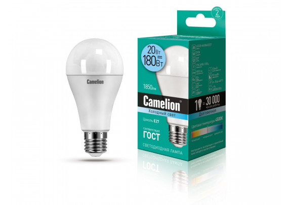Camelion A65/845/E27 LED-20W  4500K /10
