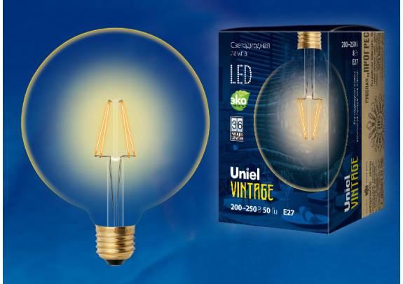 Винтаж LED Uniel LED-G125-8W/GOLDEN/E27 GLV21GO