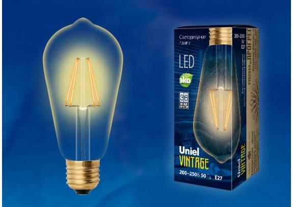 Винтаж LED Uniel LED-ST64-5W/GOLDEN/E27 GLV22GO