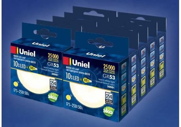 Uniel LED-GX53-10W/NW/GX53/FR/4000K