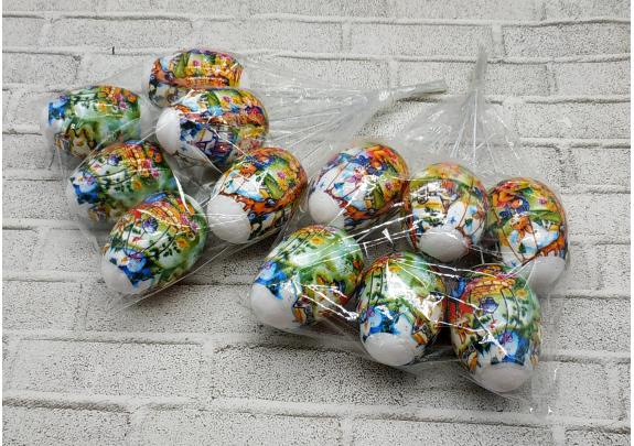 Декор LX18-018C Пасхальные яйца/набор 5шт
