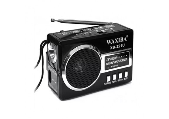Радиоприемник WAXIBA XB-221 USB/SD/FM/фонарь/черн