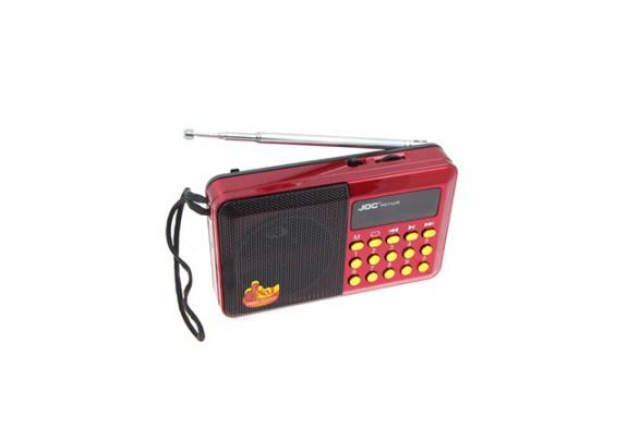 Радиоприемник JDC H011U USB/SD/SDmicro/FM/красн