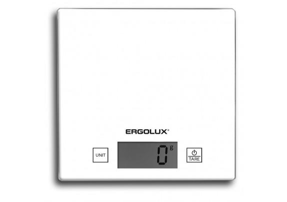 Весы кухонные ERGOLUX ELX-SK01-C01 бел/5кг/150*150